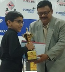 Harigovind A.J of Class VI has secured Vth rank in Math Bee National Championship held in Mumbai. He is qualified to participate in the International Level Championship..jpg